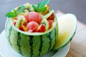 soirée plage salade de fruit